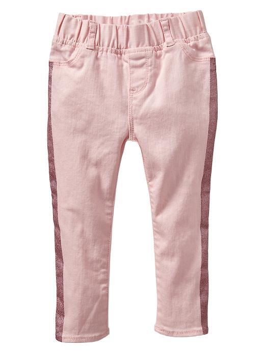Gap Glitter Stripe Legging Jeans - Pink cameo - Gap Canada