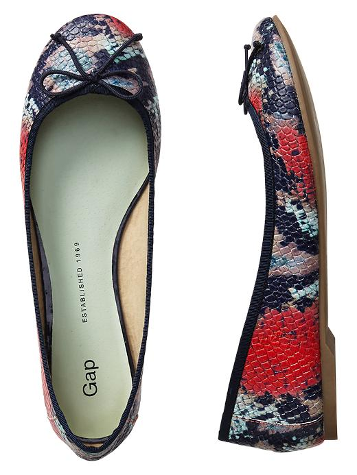Gap Snakeskin Leather Ballet Flats - Multi print - Gap Canada