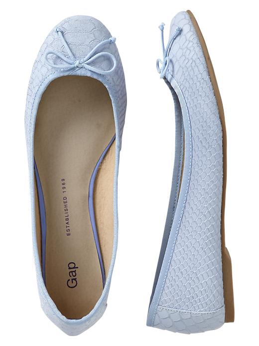 Gap Snakeskin Leather Ballet Flats - Wind blue - Gap Canada