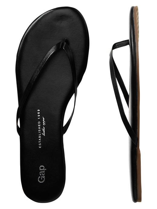 Gap Leather Flip Flops - True black - Gap Canada