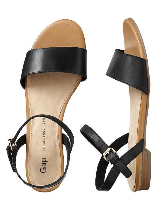 Gap Leather Sandals - True black - Gap Canada