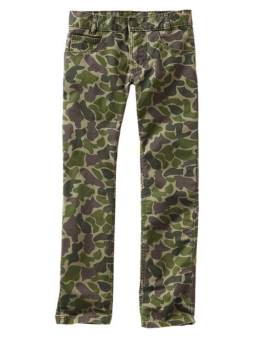 Gap Camo Skinny Pants - Green camo