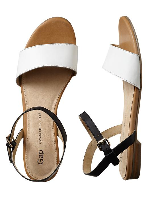 Gap Leather Sandals - White - Gap Canada
