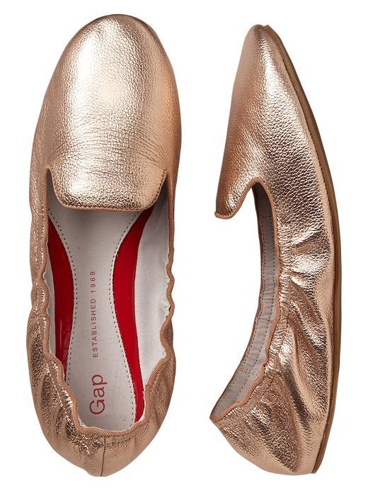 Gap Metallic Scrunch Leather Loafers - Pink metallic - Gap Canada