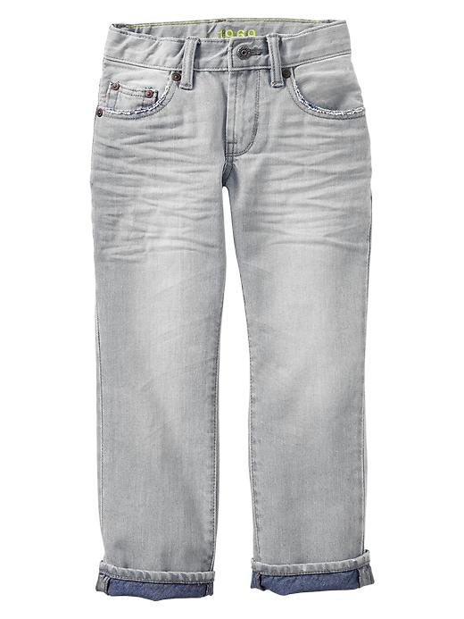 Gap 1969 Straight Jeans (Indigo Fill) - Grey denim - Gap Canada