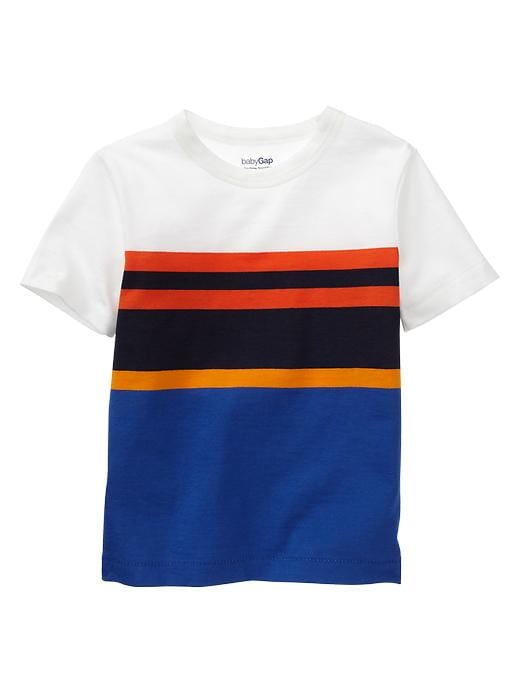 Gap Bright Engineer Stripe T - Primary blue