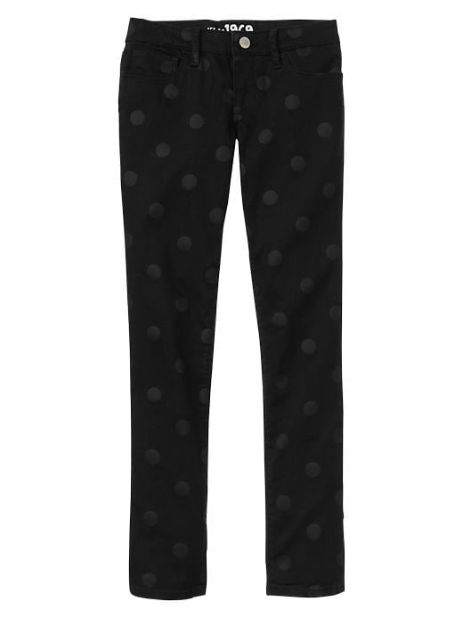 Gap 1969 Polka Dot Legging Jeans - Black denim - Gap Canada