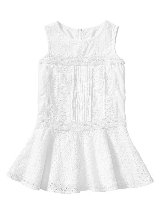 Gap Eyelet Dress - White - Gap Canada