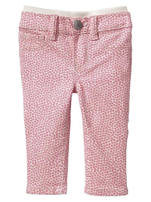 Paddington Bear For Babygap Flower Knit Waist Skinny Jeans - Ivory frost - Gap Canada