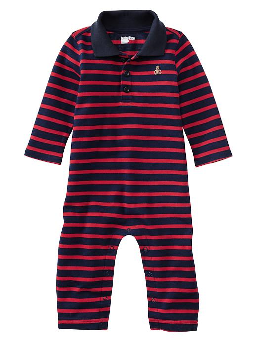 Paddington Bear For Babygap Striped Polo One Piece - Red wagon - Gap Canada