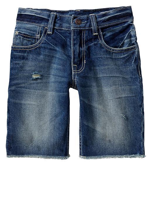 Gap Frayed Denim Shorts - Light indigo