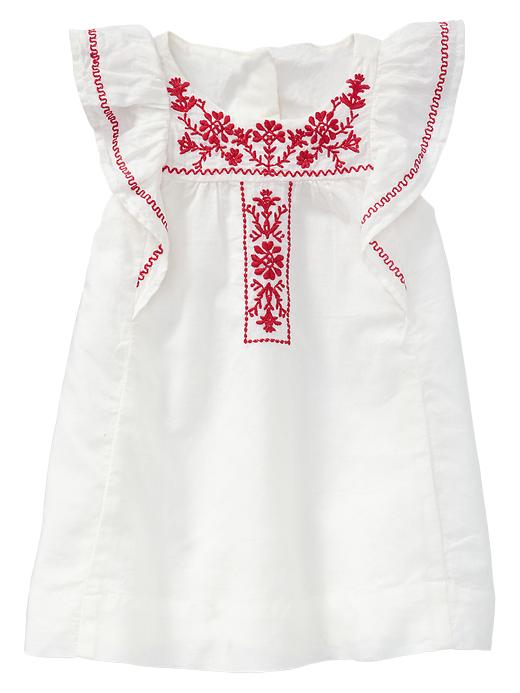 Paddington Bear For Babygap Embroidered Flutter Dress - Ivory frost - Gap Canada