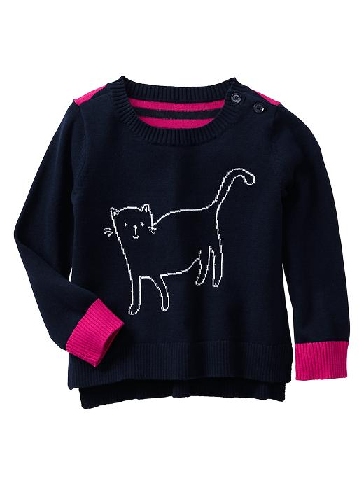 Gap Intarsia Cat Sweater - Blue galaxy - Gap Canada