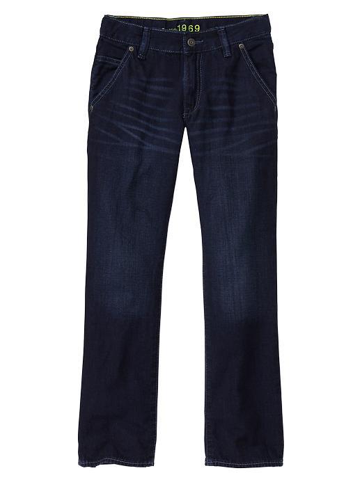 Gap 1969 Straight Trouser Jeans - Dark indigo - Gap Canada