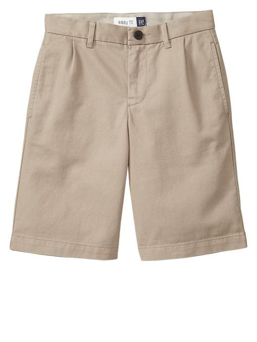 Gapshield Pleated Uniform Shorts - Cargo khaki - Gap Canada