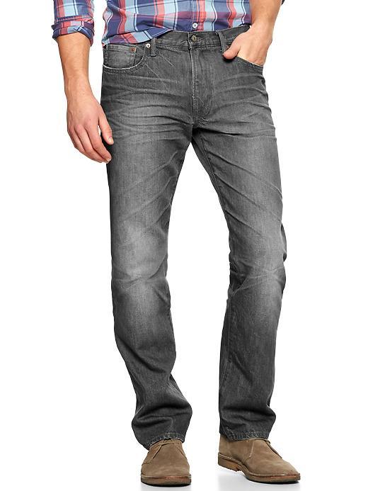 Gap 1969 Straight Fit Jeans (Plank Wash) - Grey - Gap Canada