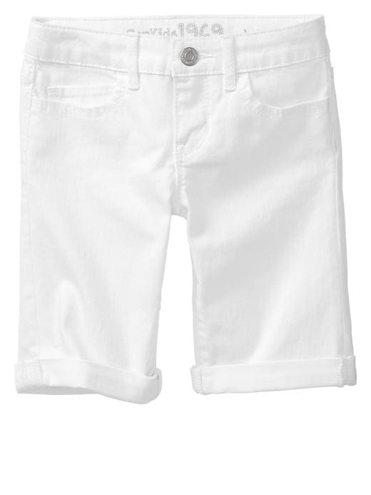 Gap 1969 Denim Bermuda Shorts - White denim - Gap Canada