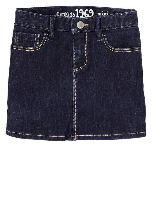 Gap 1969 Denim Skirt - Dark wash indigo - Gap Canada