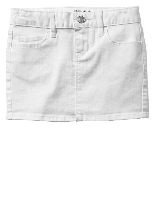 Gap 1969 Denim Mini Skirt - White - Gap Canada