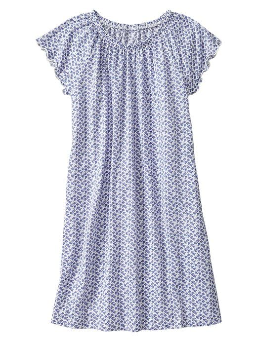 Gap Floral Flutter Nightgown - Victoria blue - Gap Canada