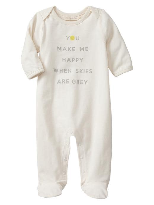 Gap Organic Happy Footed One Piece - Ivory frost - Gap Canada