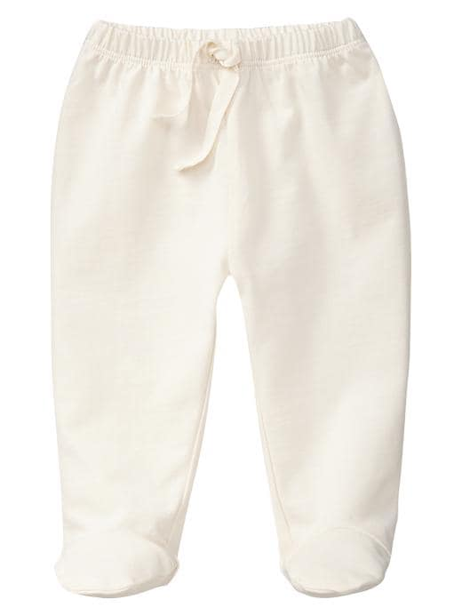 Gap Organic Footed Leggings - Ivory frost