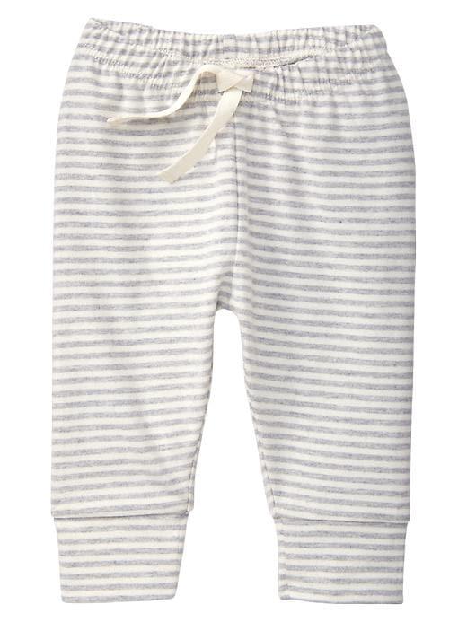 Gap Organic Stripe Cuffed Pants - Ivory frost - Gap Canada