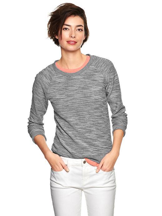Gap Reverse Terry Tweed Pullover - Gray - Gap Canada