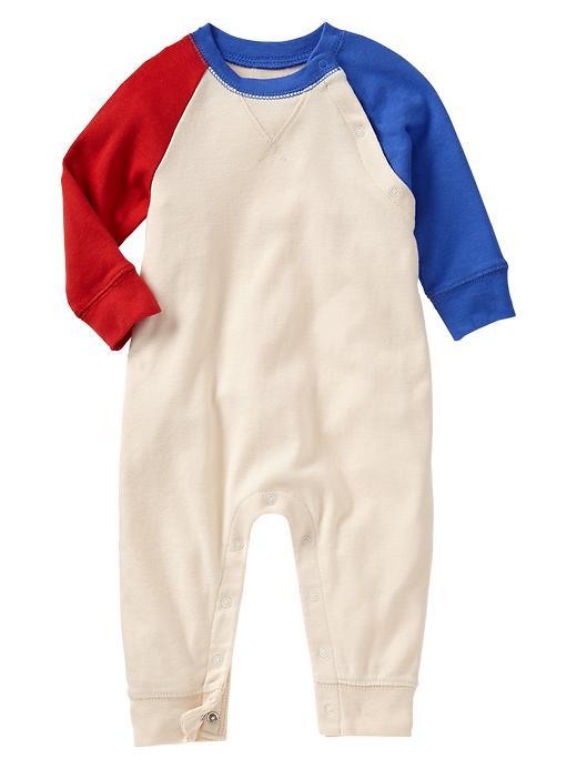 Paddington Bear For Babygap Two Tone Raglan One Piece - French vanilla - Gap Canada