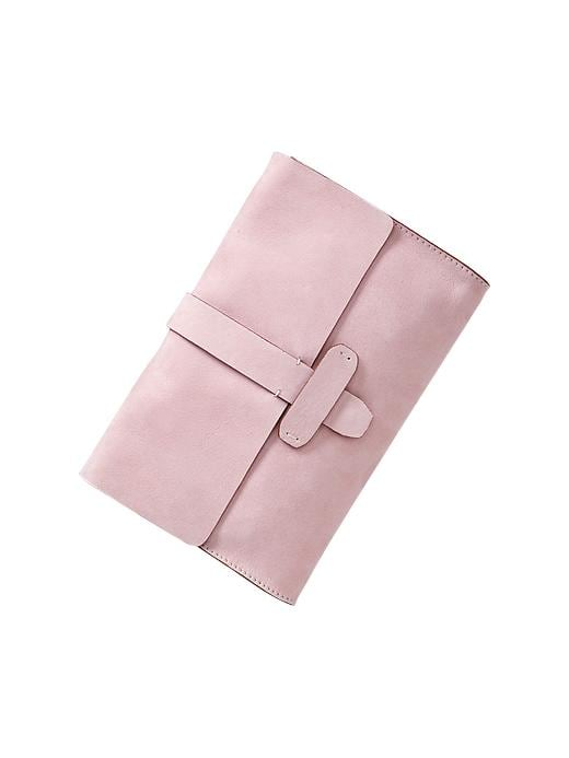 Gap Leather Flap Clutch - Pink cameo - Gap Canada