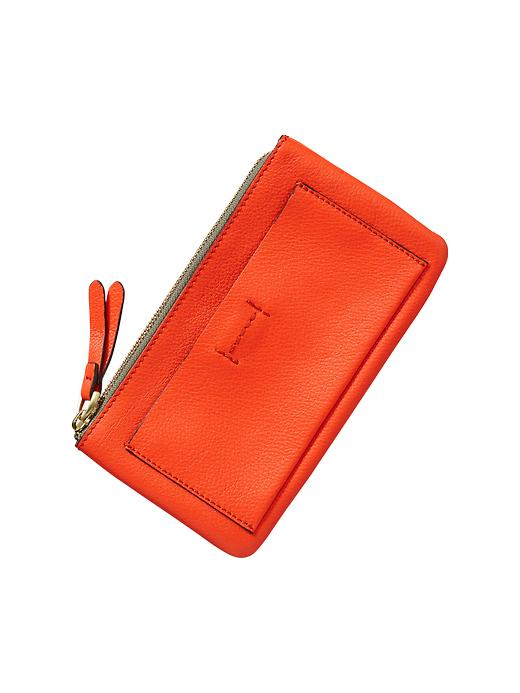 Gap Leather Wallet - New dark orange - Gap Canada