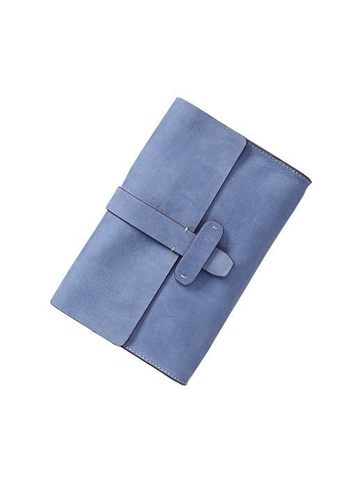Gap Leather Flap Clutch - New capri blue - Gap Canada