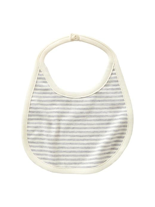 Gap Organic Striped Bib - Ivory frost - Gap Canada