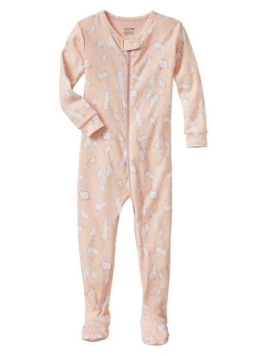 Gap Bunny Footed Sleep One Piece - Pearl rose - Gap Canada