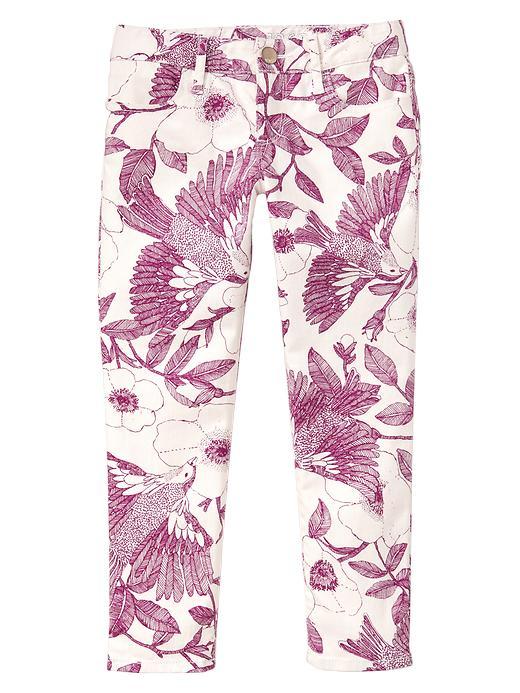 Gap 1969 Garden Floral Legging Skimmer Jeans - Sangria - Gap Canada