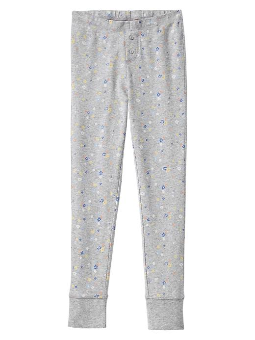 Gap Floral Banded Pj Pants - Heather gray light - Gap Canada