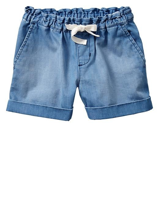 Gap Chambray Ruffle Shorts - Denim - Gap Canada