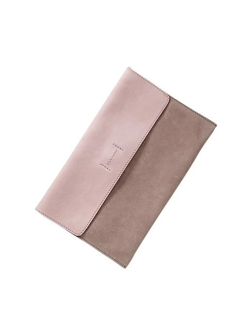 Gap Colorblock Leather Envelope Clutch - Margate sand - Gap Canada