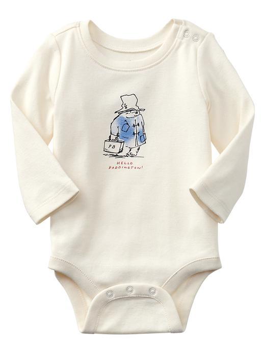 Paddington Bear For Babygap Travel Bear Graphic Bodysuit - Ivory frost - Gap Canada
