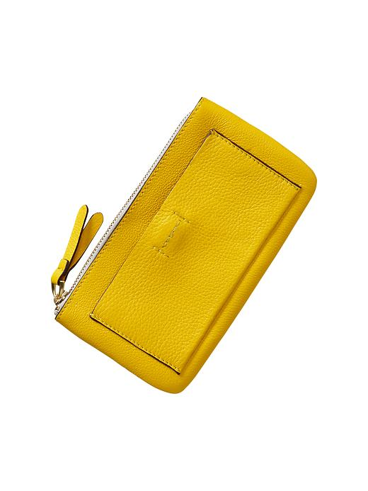 Gap Leather Wallet - Yellow jacket - Gap Canada