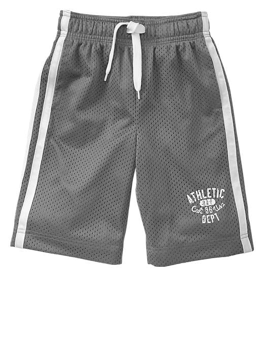 Gap Side Stripe Mesh Active Shorts - Pavement - Gap Canada
