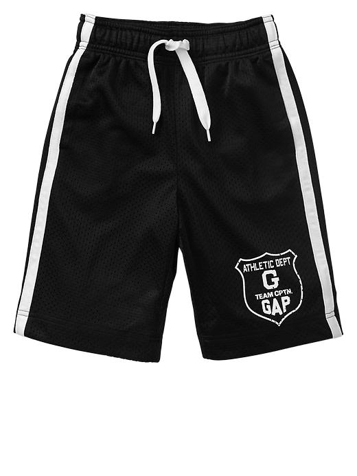 Gap Side Stripe Mesh Active Shorts - True black
