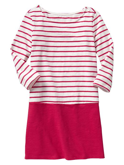 Gap Colorblock Stripe Dress - Maui rose - Gap Canada