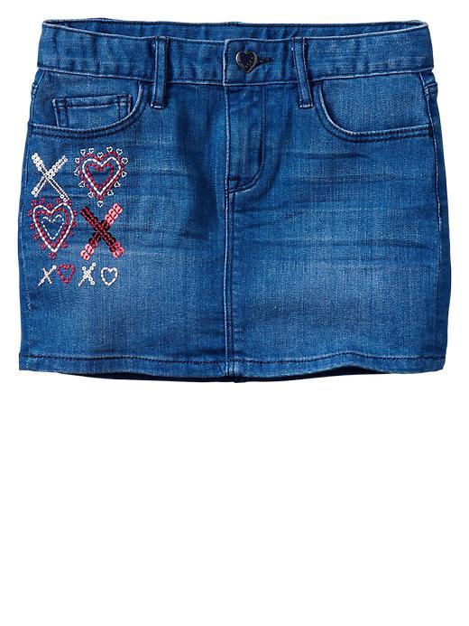 Gap 1969 Embellished Denim Skirt - Dark wash - Gap Canada