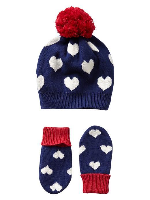 Gap Intarsia Heart Hat & Mitten Set - Heart - Gap Canada