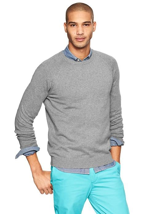 Gap Cotton Cashmere Crew Sweater - Medium grey heather - Gap Canada