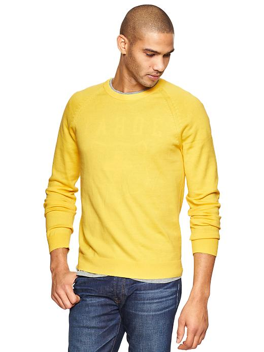 Gap Cotton Cashmere Crew Sweater - Yellow heather - Gap Canada