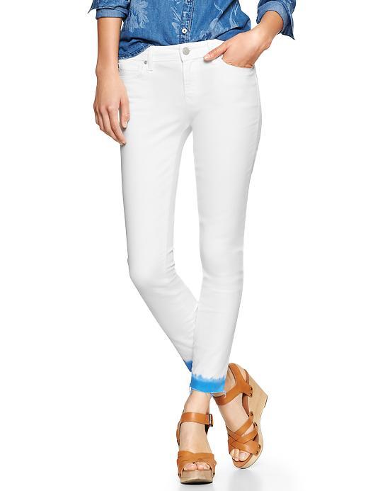 Gap 1969 Dip Dye Always Skinny Skimmer Jeans - Clean blue - Gap Canada