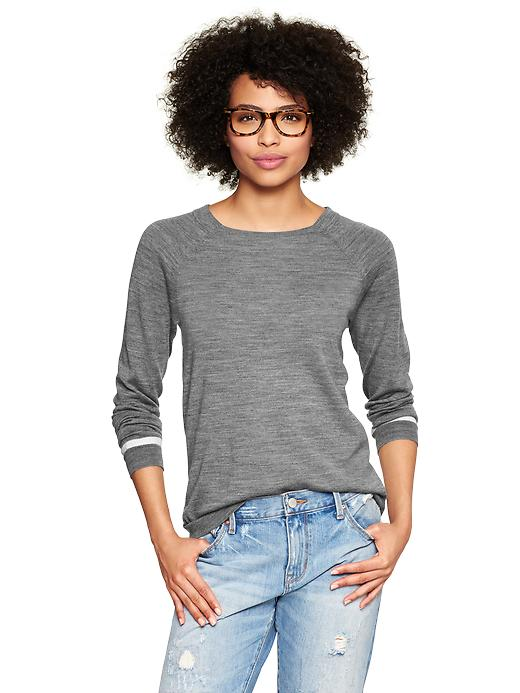Gap Contrast Tip Sweater - Heather gray - Gap Canada