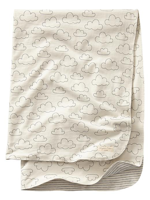 Gap Organic Printed Blanket - Ivory frost - Gap Canada